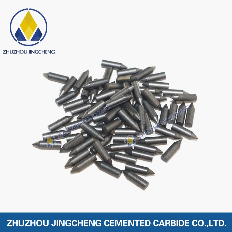 Tungsten carbide cusp material antiskid stud pins